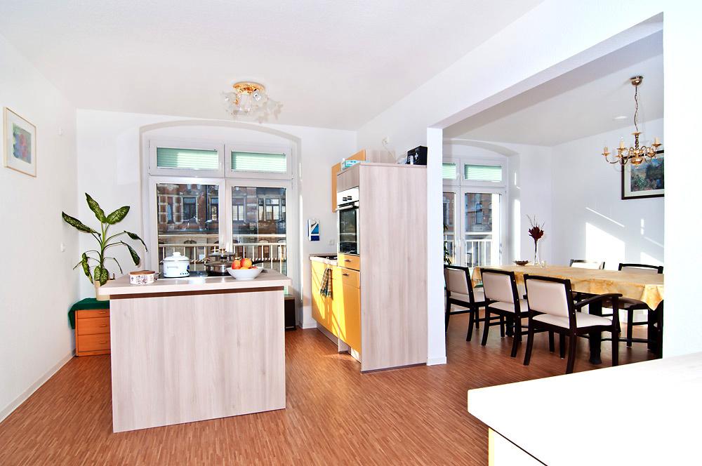 tagespflege k che mit blick auf speise besch ftigungsraum. Black Bedroom Furniture Sets. Home Design Ideas